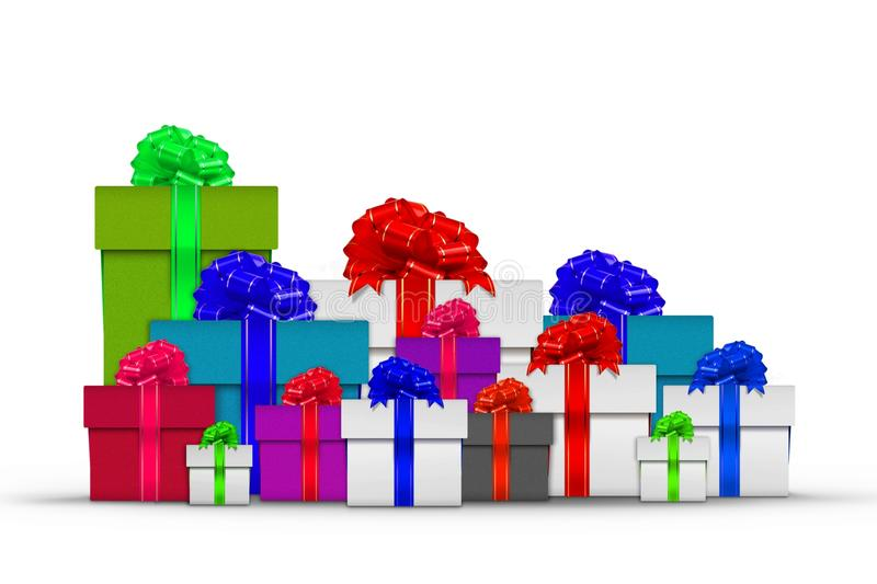 Stack of gift boxes vector illustration