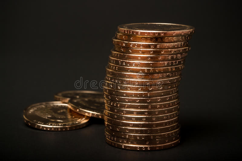 Stack Of Gold Coins Stock Photos