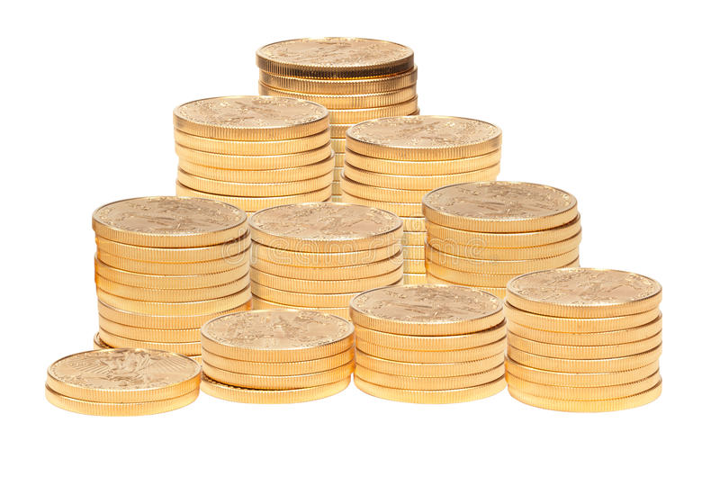 Download Stack Of Golden Eagle Coins Stock Photo - Image of investment, abstract: 22079950