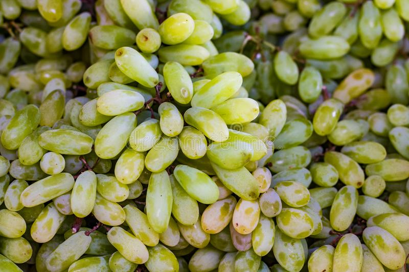 Stack of grapes in retail vegetable super market for sale royalty free stock photos
