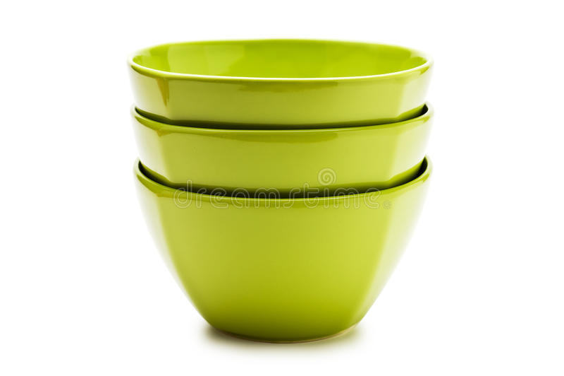 Download Stack green ceramic bowl stock image. Image of ceramic - 15489455