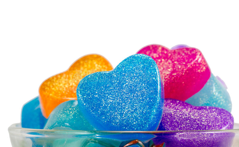 Download Stack Of Handmade Soaps,hearts For Valentine Day Stock Image - Image: 37836923