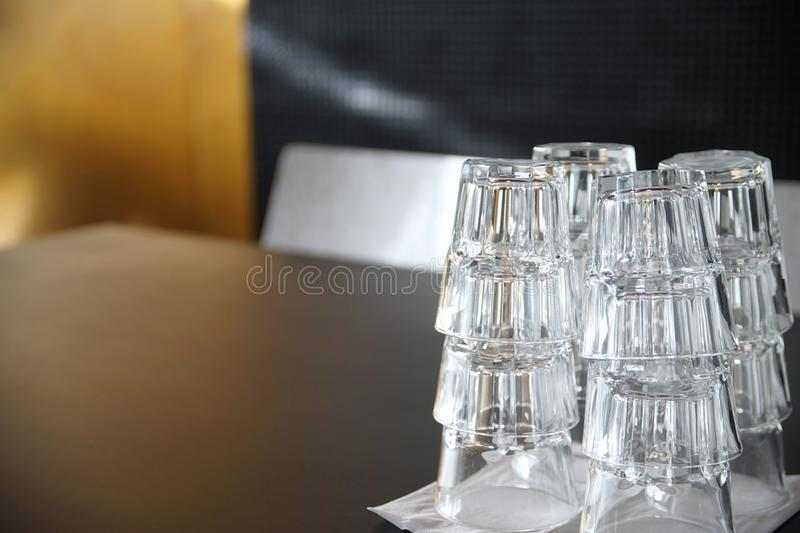 Stack of highballs royalty free stock photography