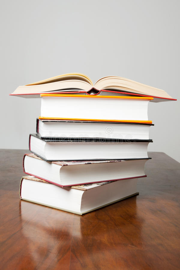 Stack of History Books stock photo