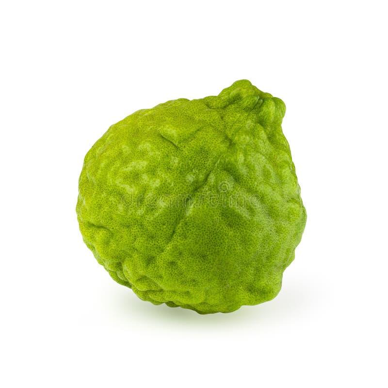 Stack image bergamot fruit isolated on a white background with c. Lipping path stock photos