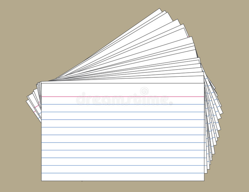 Stack of Index Cards stock illustration