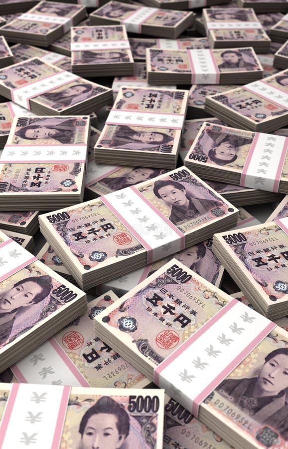 Stack of Japanese Yen stock image