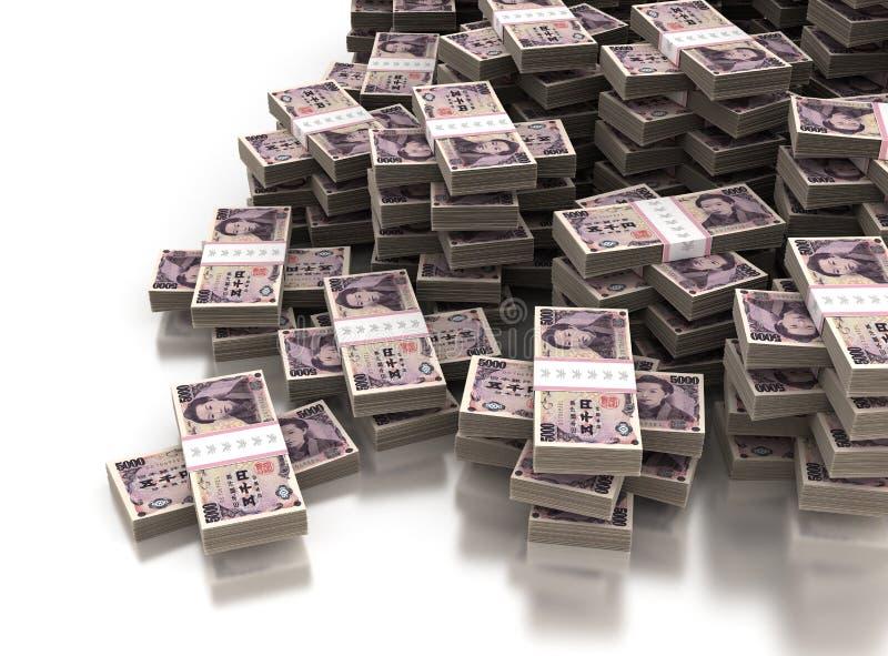 Stack of Japanese Yen royalty free stock photos