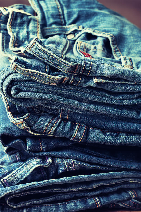 Download Stack Of Jeans Stock Photo - Image: 83702575