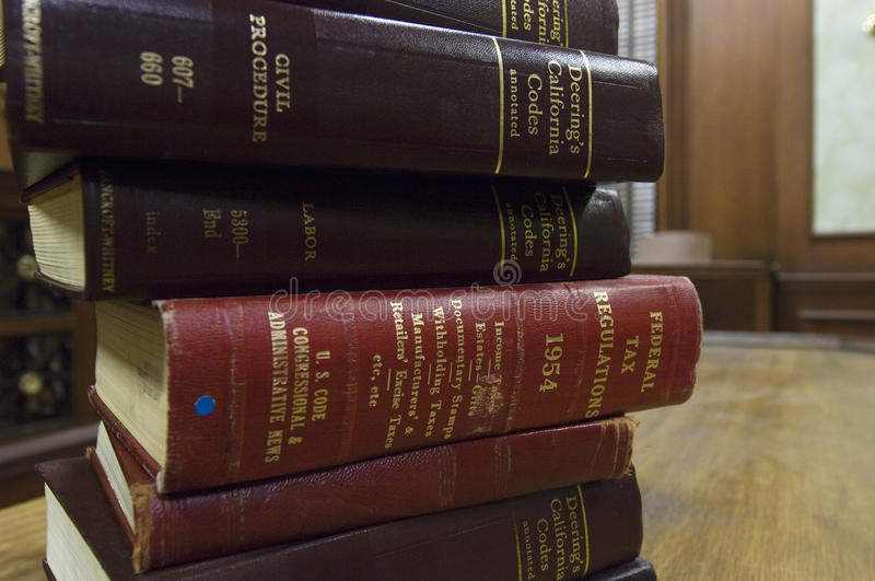 Stack Of Law Books royalty free stock photography