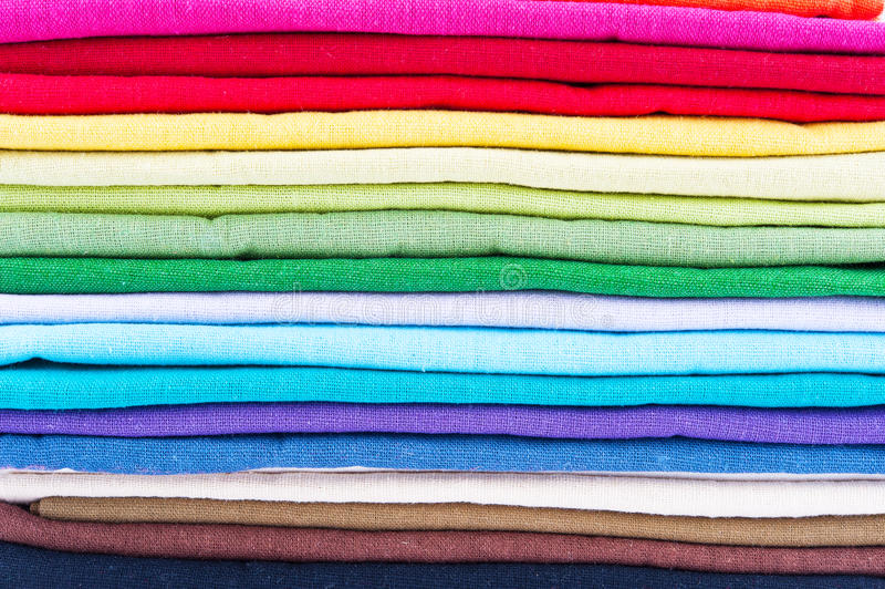 Stack Of Linen Stock Images