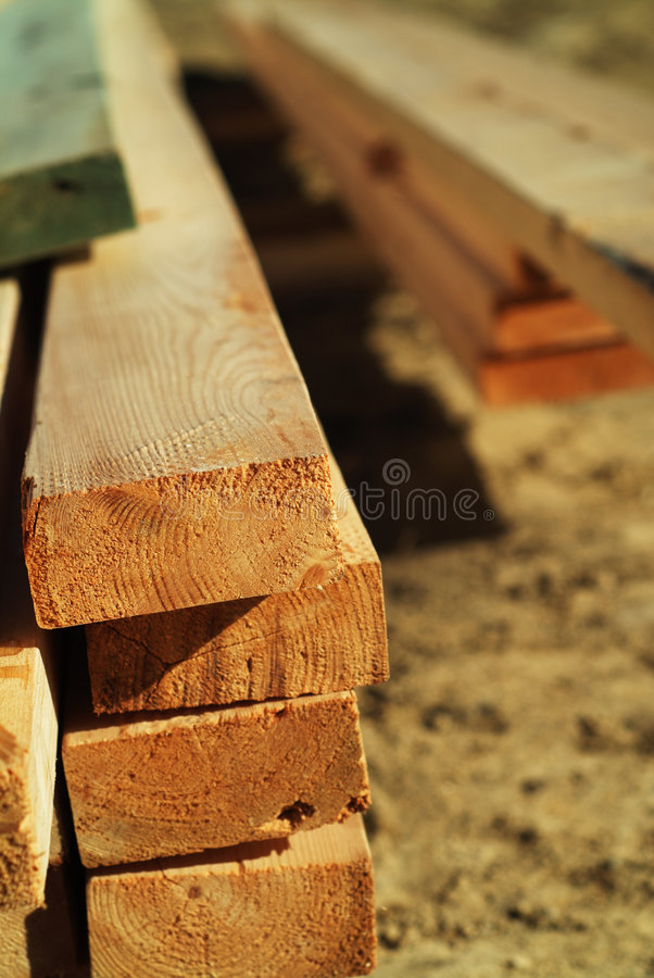 Stack of lumber stock image