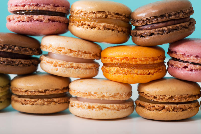 Stack of macarons stock photography