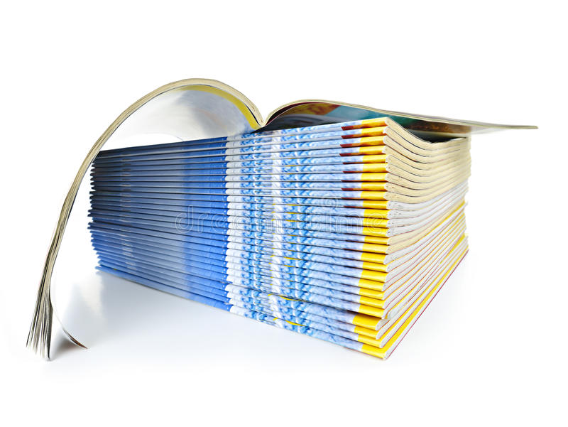 Download Stack of magazines stock photo. Image of monthly, journal - 21221076