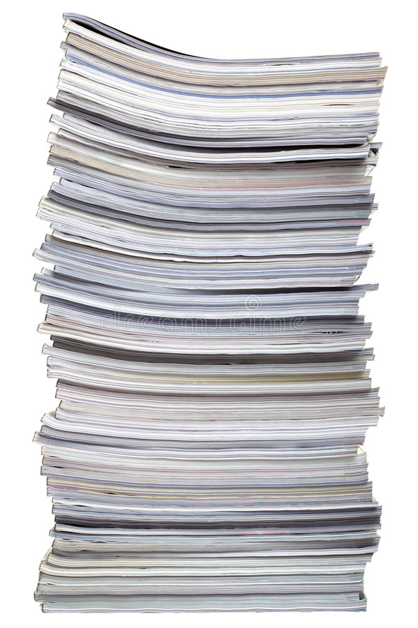Stack of magazines stock images