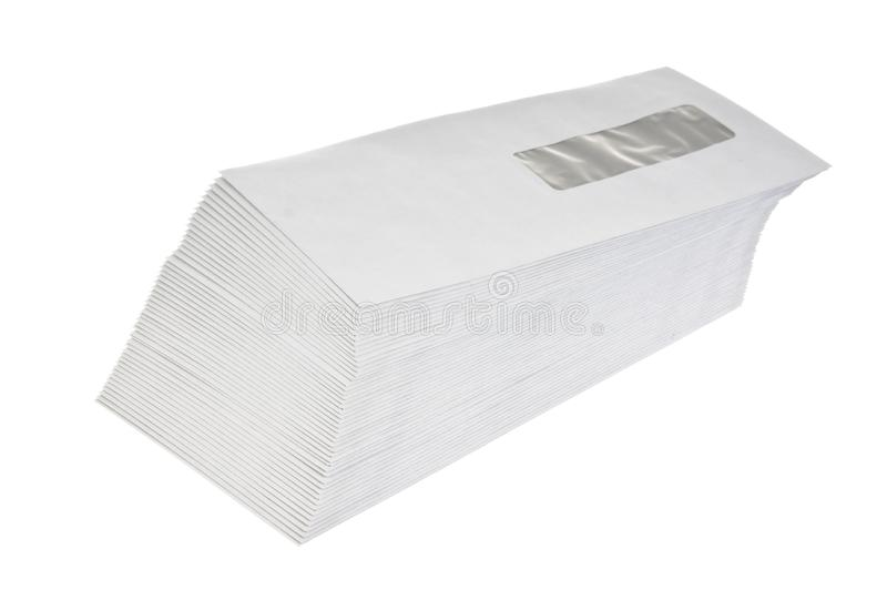 stack of mail envelopes royalty free stock image