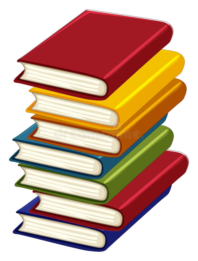 Stack of many books royalty free illustration