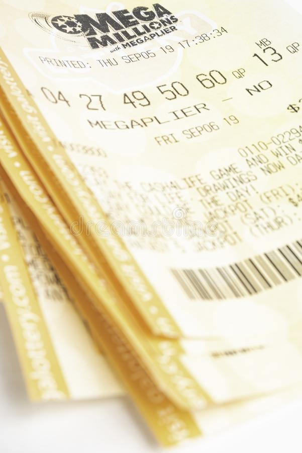 A Stack Of Mega Millions Tickets Editorial Photo - Image ...