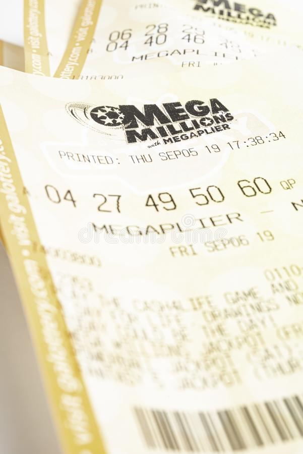 A Stack Of Mega Millions Tickets Editorial Image - Image ...