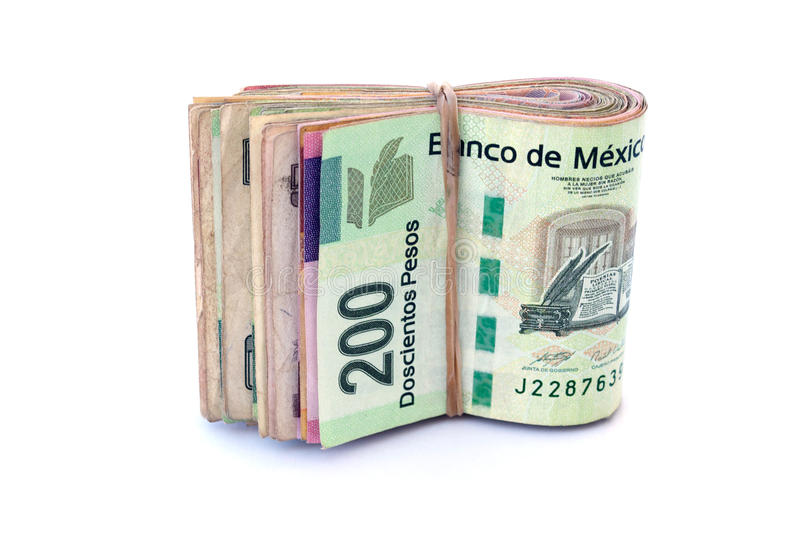 Download Mexican Currency stock image. Image of peso, paper, isolated - 30246463