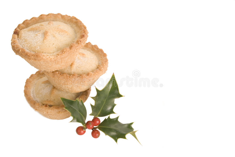 Download Stack Of Mince Pies With Holly Stock Image - Image: 3628157