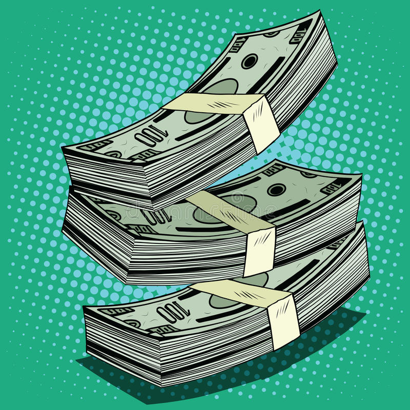 Stack of money dollar bills cash vector illustration
