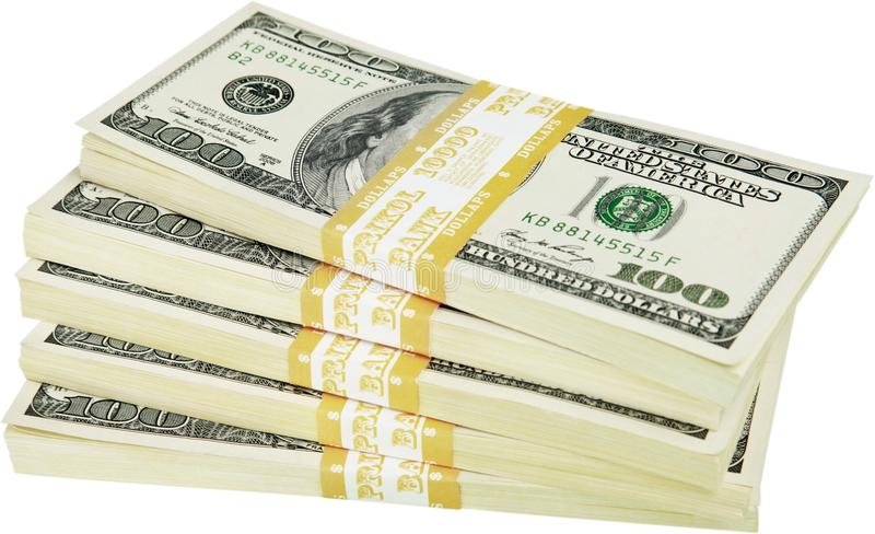 Stack of Money - Isolated royalty free stock image
