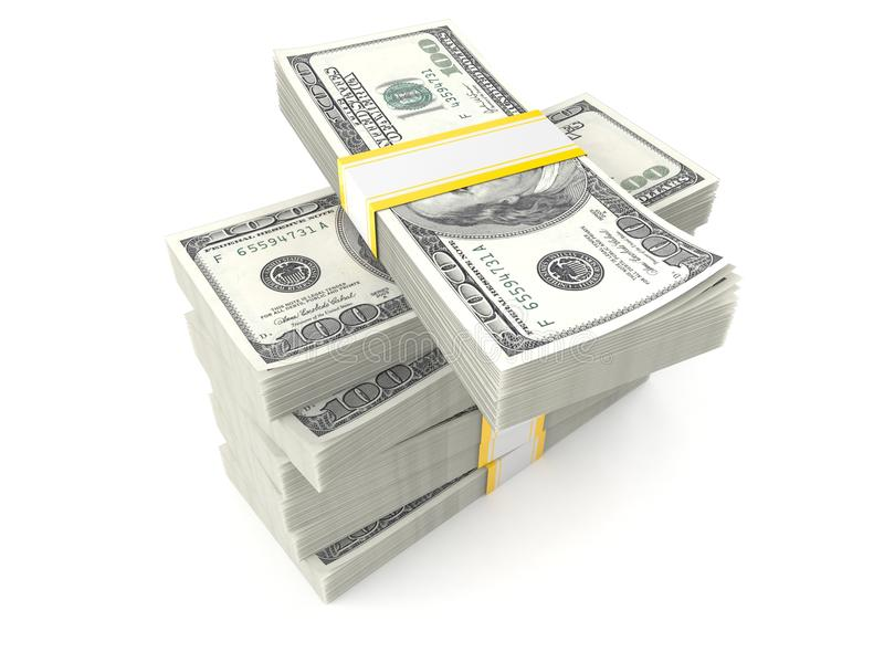 Stack of money stock photography