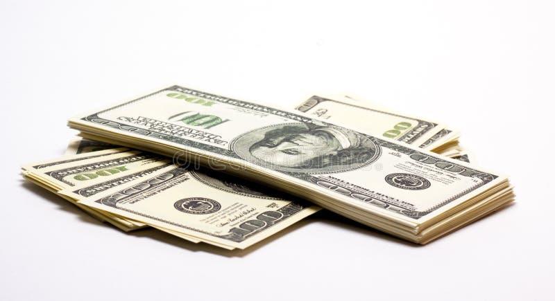Pile of money stock image