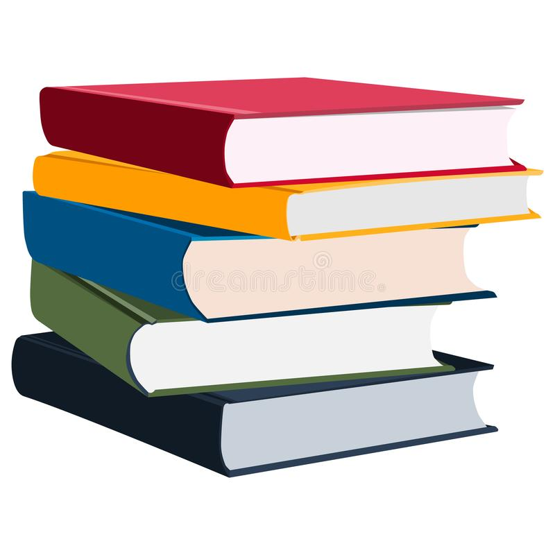 Stack of multi colored books/diaries/daily planners royalty free illustration