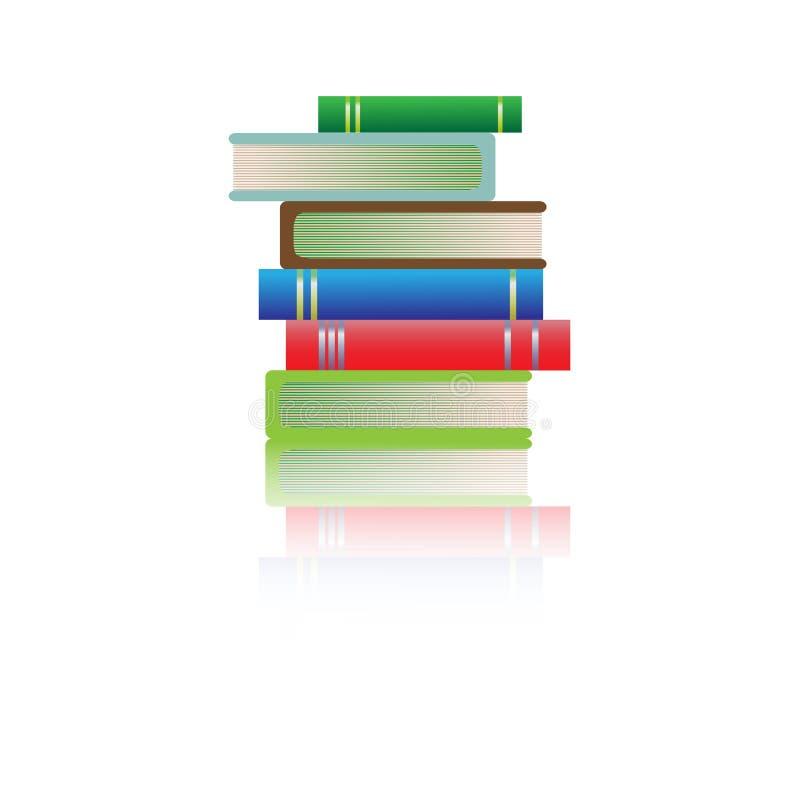 Stack of multi colored books stock illustration