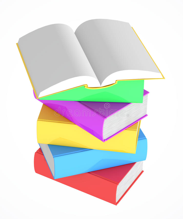 Download Stack Of Multicolored Books Stock Illustration - Image: 26584370