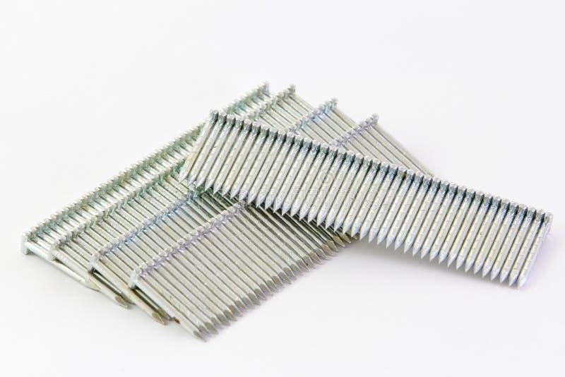 Stack Of Nails Used In A Nailgun(nailgun Bullet) Stock Image - Image ...