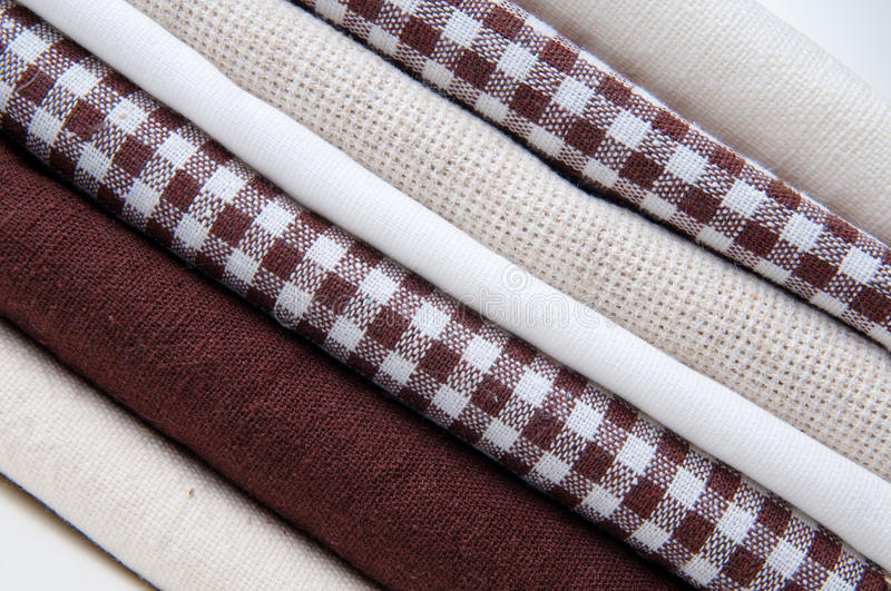 Download Stack of new fabrics stock photo. Image of fabric, folded - 26877296