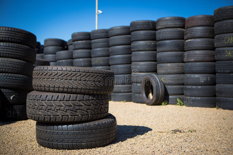 Stack Of New Tires Royalty Free Stock Images