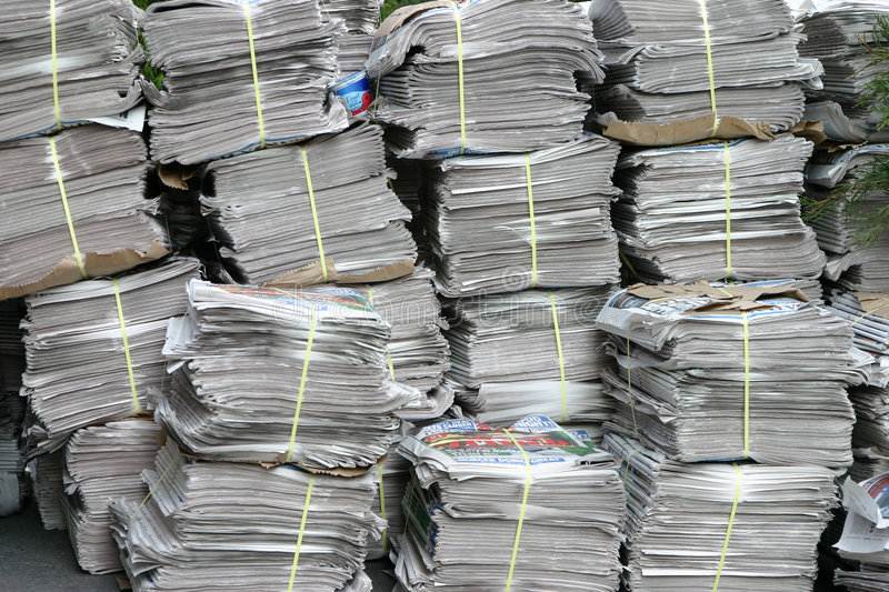 Stack of newspaper stock images