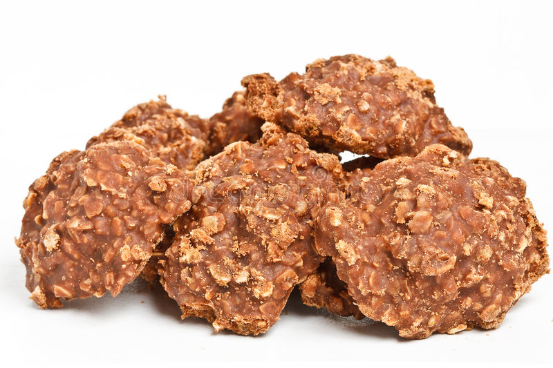 Stack of no bake cookies. A stack of delicious no bake cookies stock image