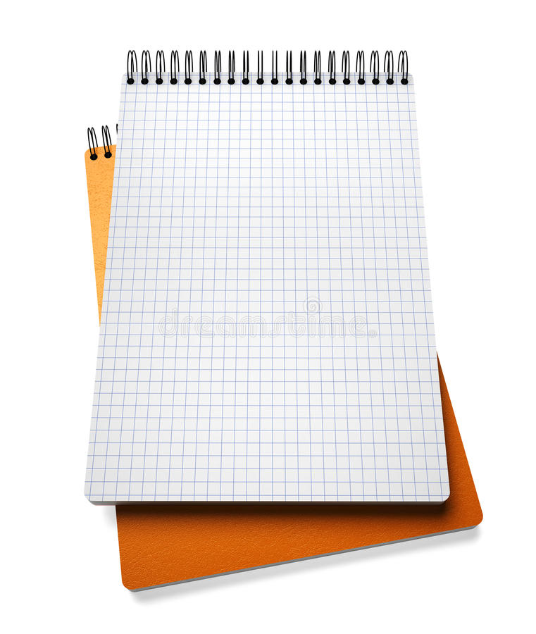 Stack of notebook on white stock illustration