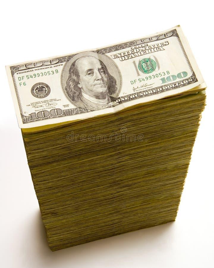 Free Stack Of 100 Dollar Bills Stock Image - 2562701