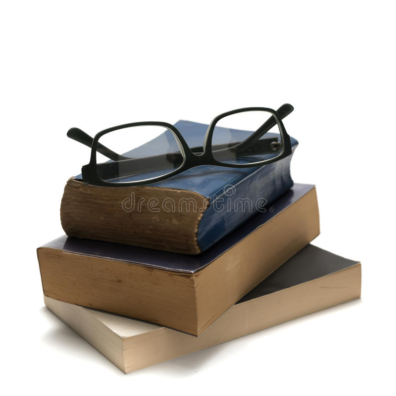 Free Stack Of Book And Glasses Royalty Free Stock Photography - 54444267