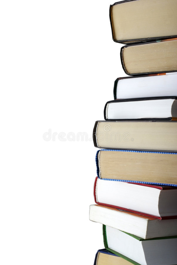Free Stack Of Books Isolated On White. Royalty Free Stock Image - 6961046