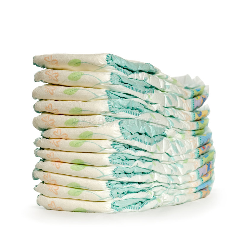 Free Stack Of Diapers Royalty Free Stock Image - 2345036