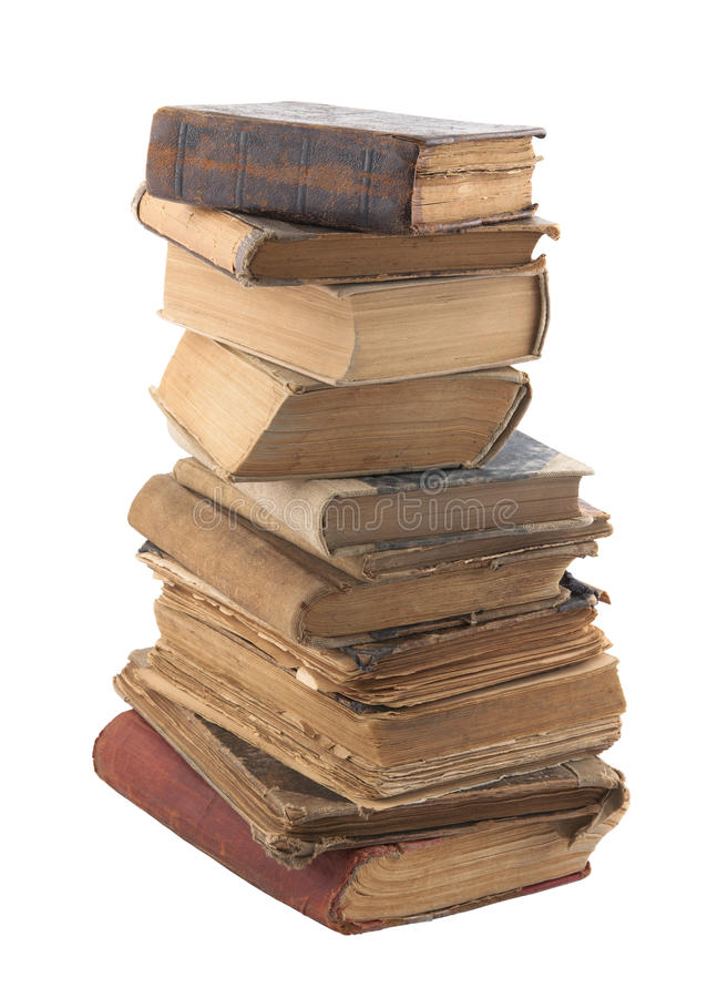 Free Stack Of Old Books With Clipping Path Stock Photo - 21661450
