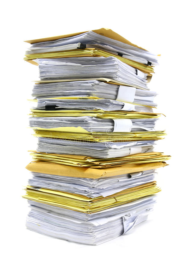 Free Stack Of Papers Stock Photography - 23123922