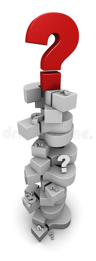Free Stack Of Question Marks Royalty Free Stock Photography - 21869247