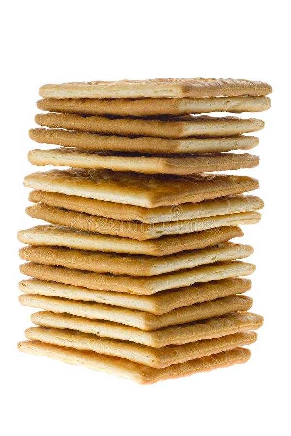 Free Stack Of Square Crackers Royalty Free Stock Photos - 2510458