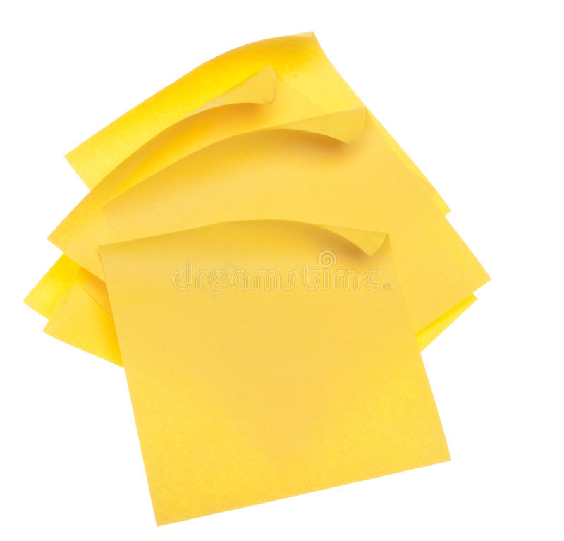 Free Stack Of Yellow Sticky Notes Royalty Free Stock Photos - 15196688