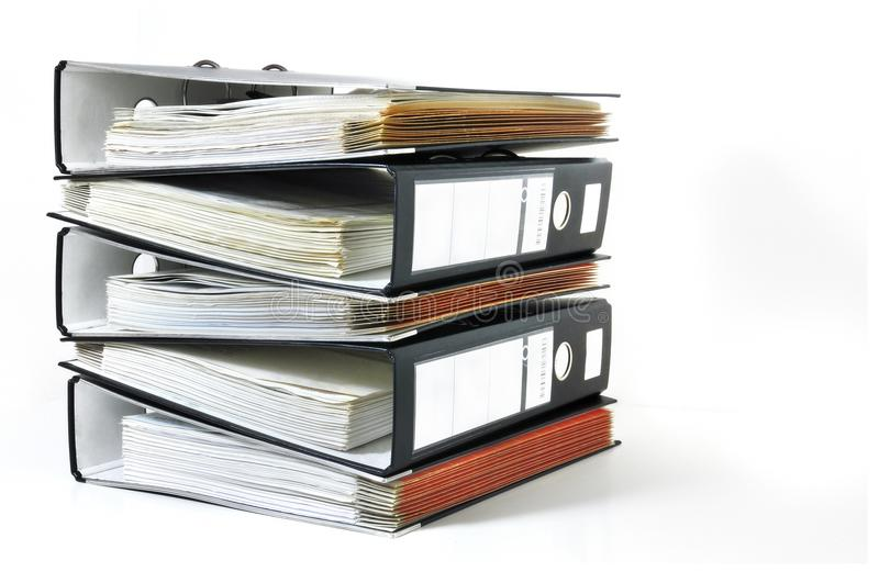 Stack of office files royalty free stock image