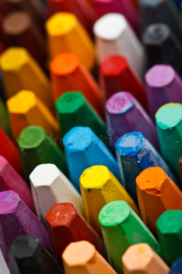 Download Stack of oil pastels stock photo. Image of colors, education - 23524798
