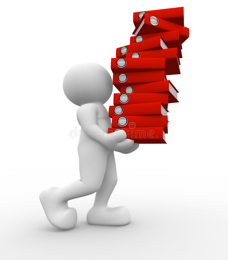 Download Stack ok folders stock illustration. Image of busy, deadline - 19684142